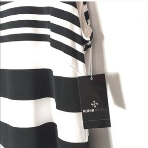 Ronni Nicole Dresses - Ronni Nicole Sleeveless Striped Dress Sz 12 NEW